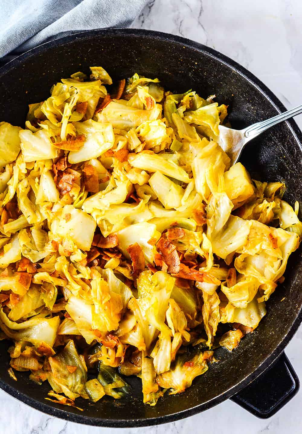 Vegan Southern Fried Cabbage Healthier Steps