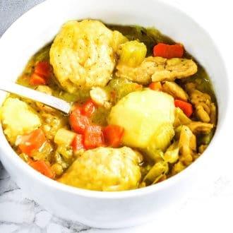 Vegan Chicken And Dumplings Bowl