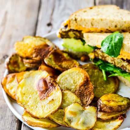 Low Calorie Oven Baked Potato Chips