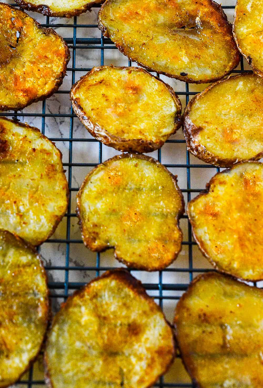 Oven Baked BBQ Potato Chips