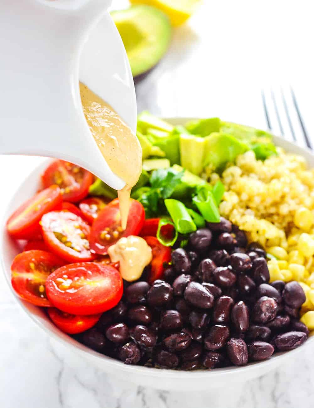 Quinoa Salad with Oil-Free Chipotle Ranch Dressing