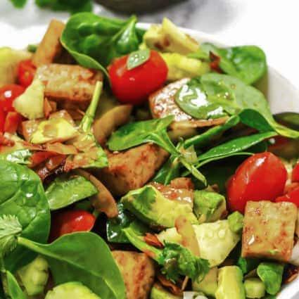 Spinach Tofu Salad Recipe