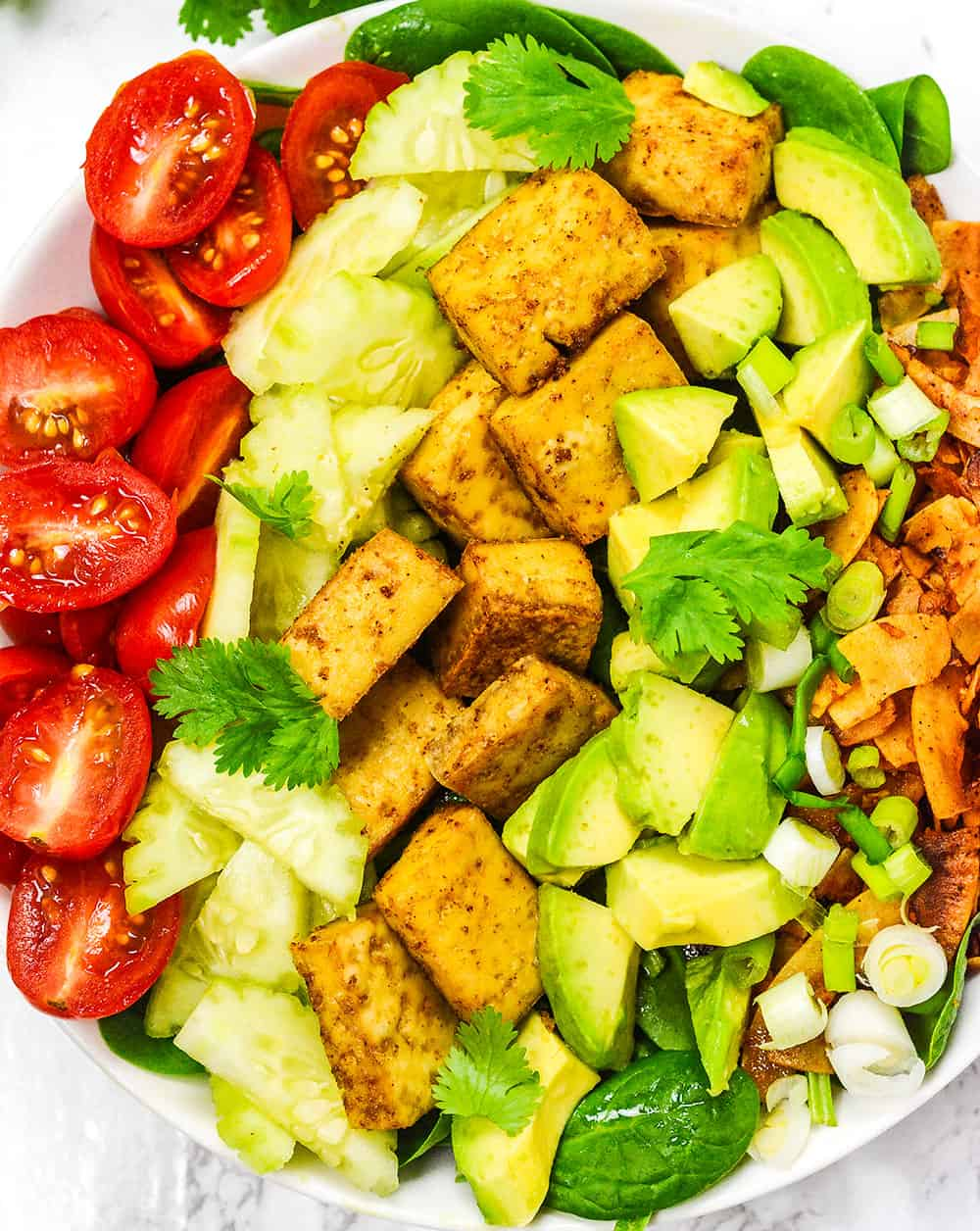 Spinach Tofu Salad