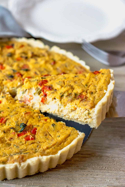 Zucchini Bell Pepper Tofu Quiche