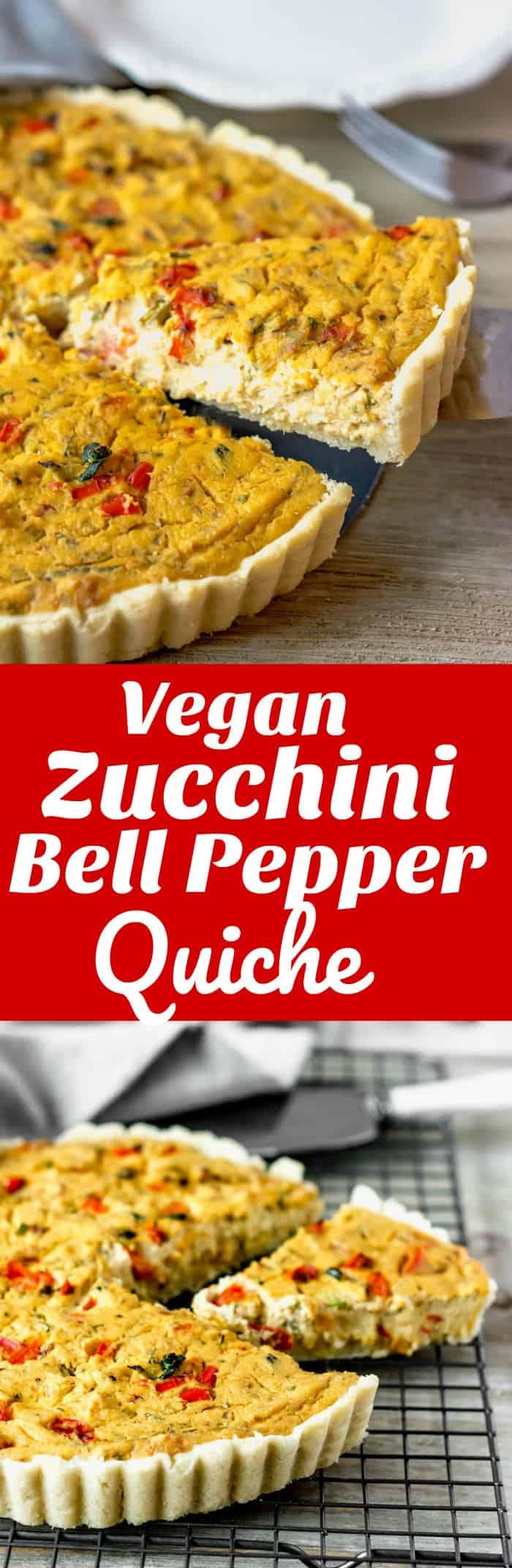 Vegan Zucchini Bell Pepper Tofu Quichef
