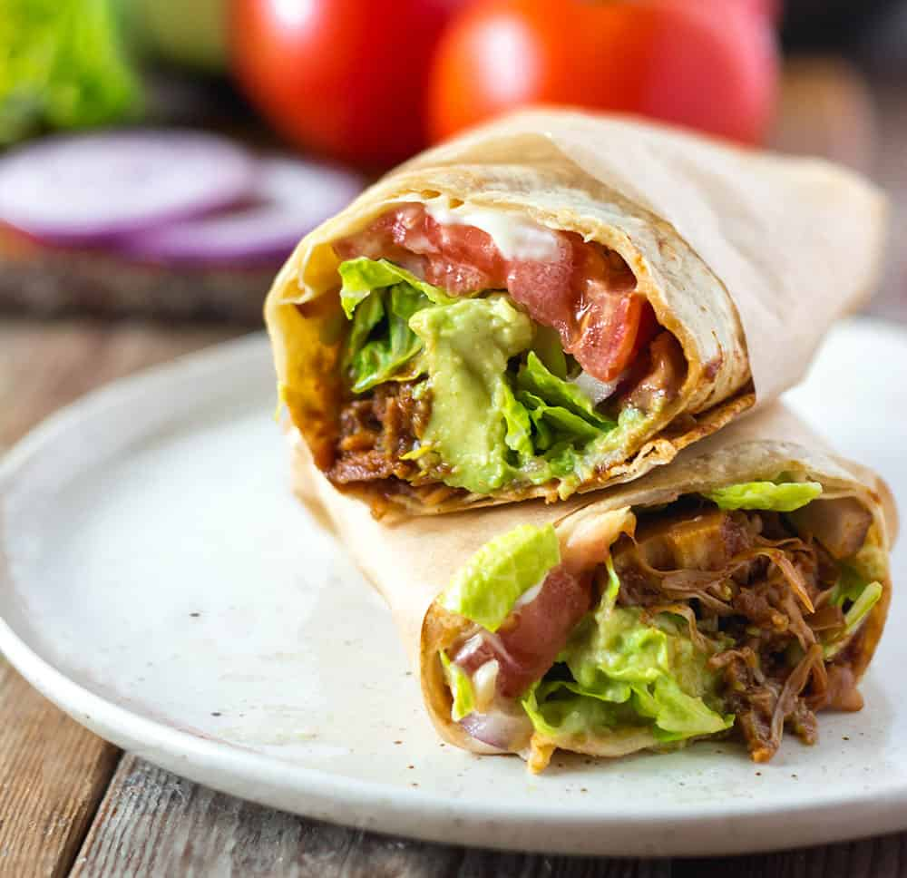BBQ Jackfruit Wraps