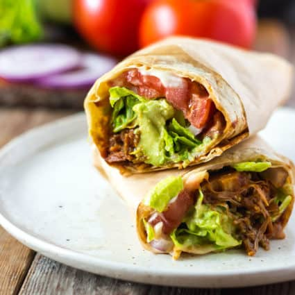 Vegan BBQ Jackfruit Wraps
