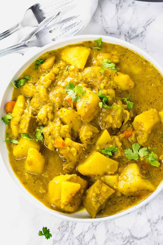 Instant Pot Vegan Curry Jackfruit And Potato