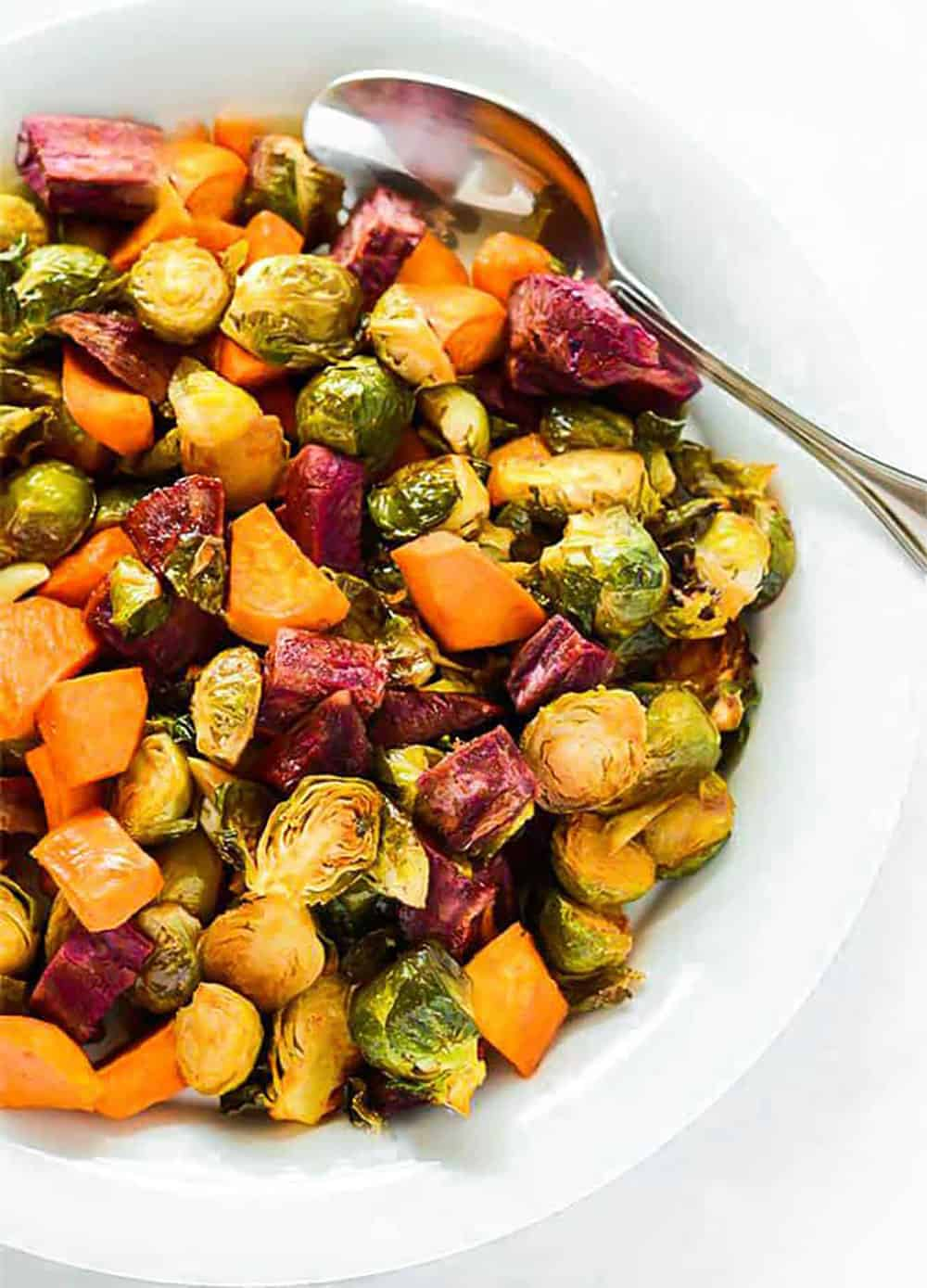 Roasted Brussels Sprouts Sweet Potatoes