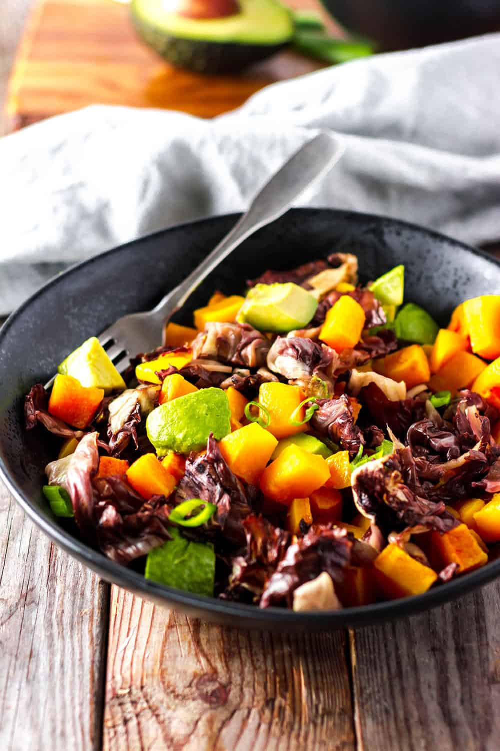 Roasted Radicchio and Butternut Squash
