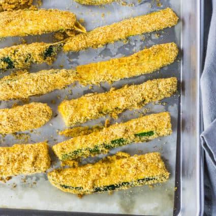 Baked Zucchini Fries (Gluten Free, Vegan)