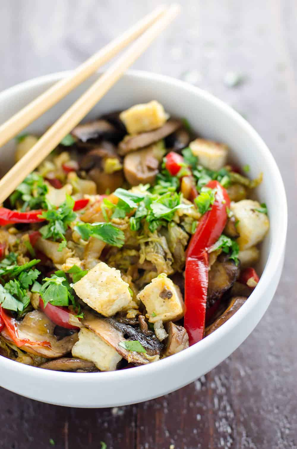 Napa Cabbage Stir Fry With Salt And Pepper Tofu