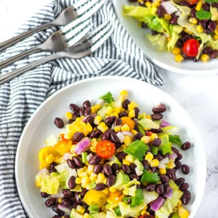 Southwest Salad with Avocado Dressing