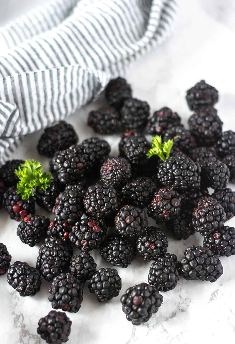 Blackberries for Blackberry Cake