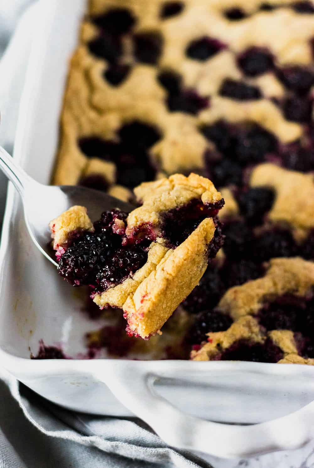 Blackberry Cake close up