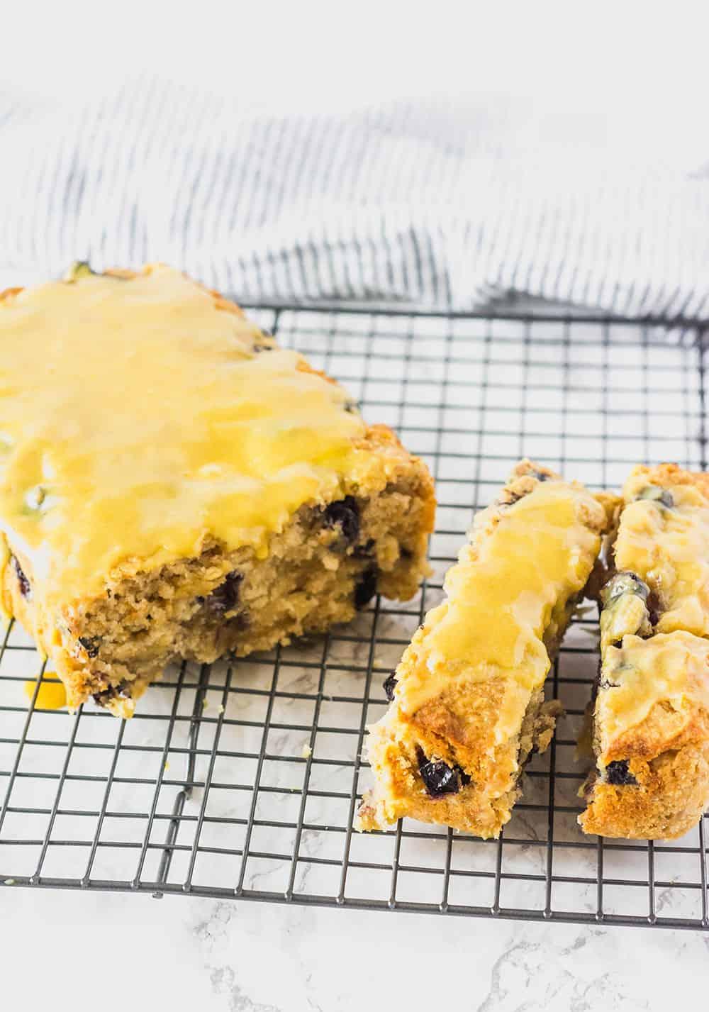 Vegan Blueberry Pineapple Bread