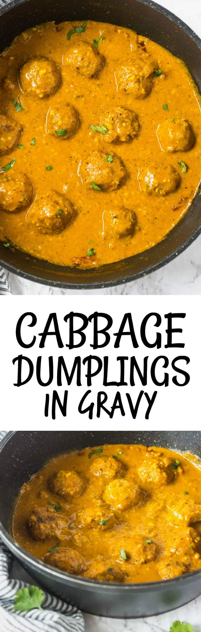 Cabbage Dumplings In Gravy