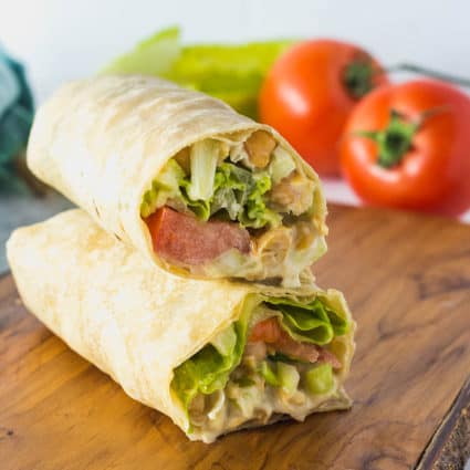 Chickpea Salad Wraps