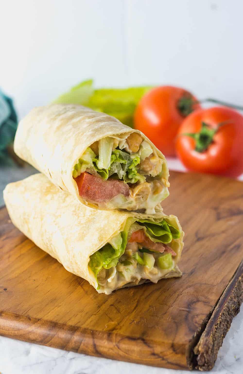 Chickpea Salad Wraps