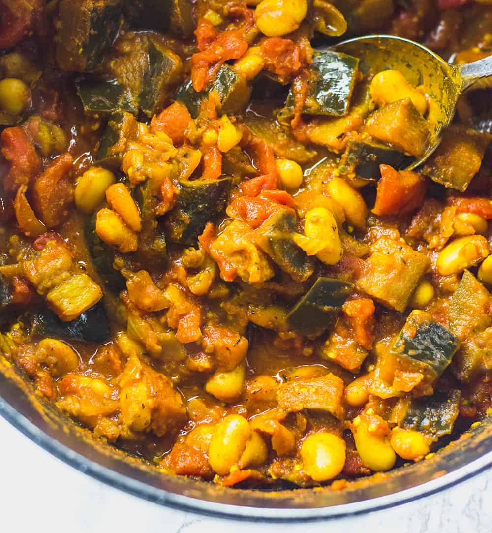 Eggplant And Lima Bean Stew