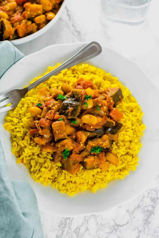 Eggplant And Lima Bean Stew Recipe