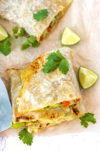 Vegan Quesadilla with Hummus