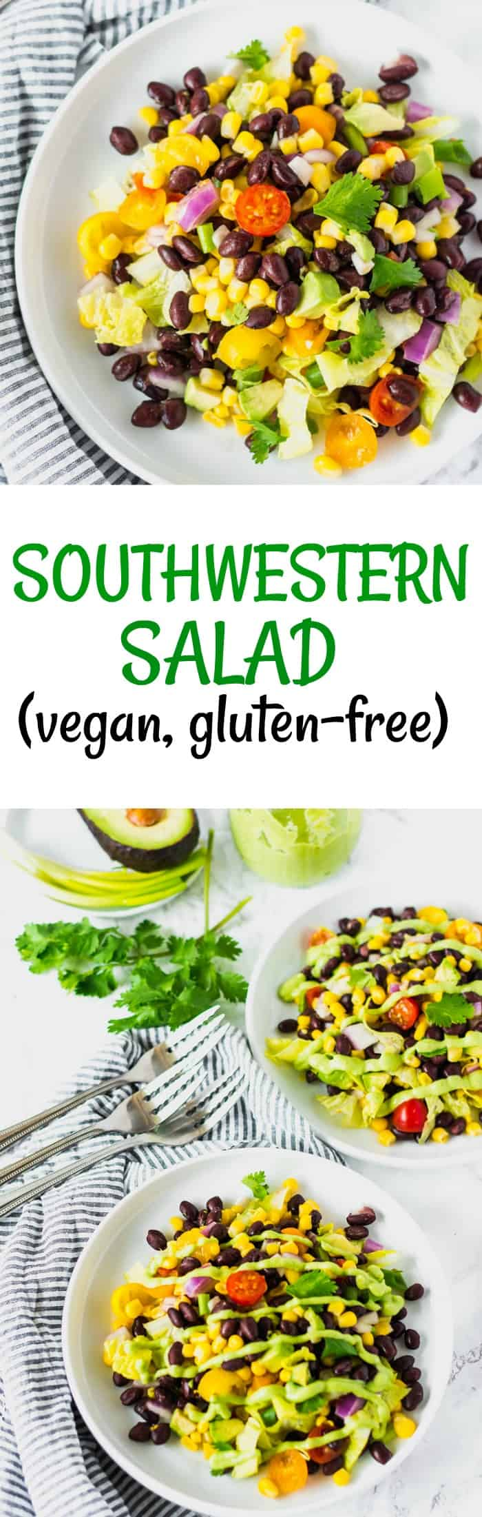 Southwestern Salad with Avocado Dressing