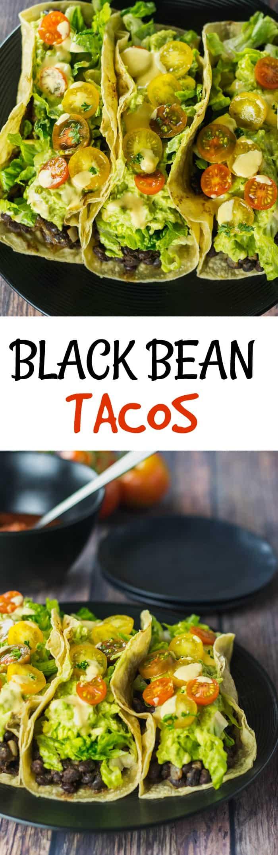 Vegan Black Bean Tacos Pin