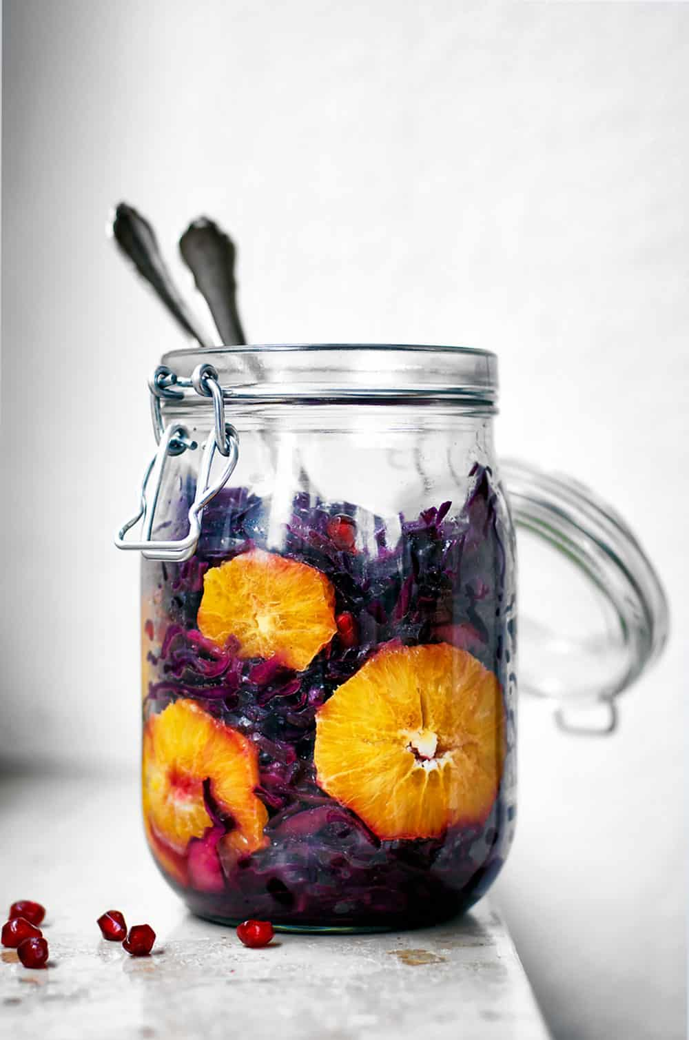 Red Cabbage Orange Salad