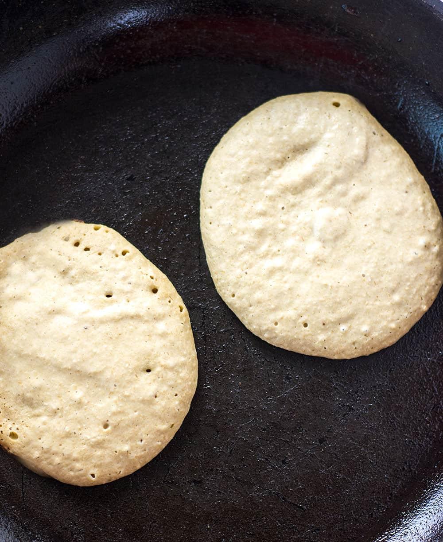 Vegan Banana Oatmeal Pancakes