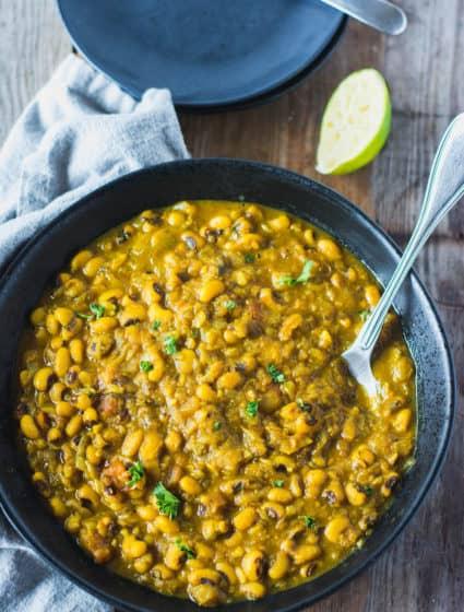 Black Eyed Peas Curry Recipe (Instant Pot Version)