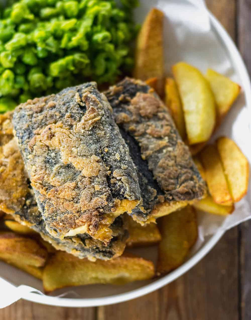 Vegan fish and chips recipe healthier steps for Long john silver fish and chips