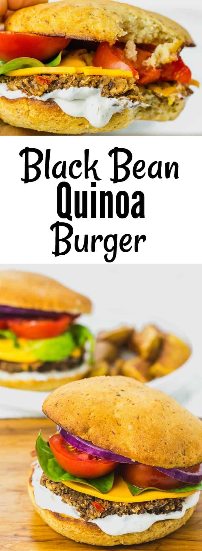 Black Bean Quinoa Burger pin