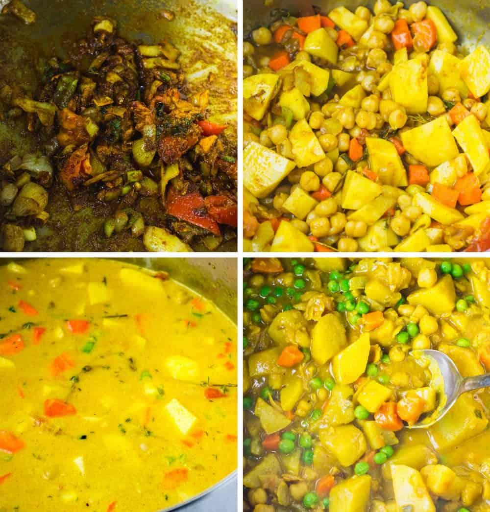 Jamaican Spicy Potato Curry Vegan Healthier Steps