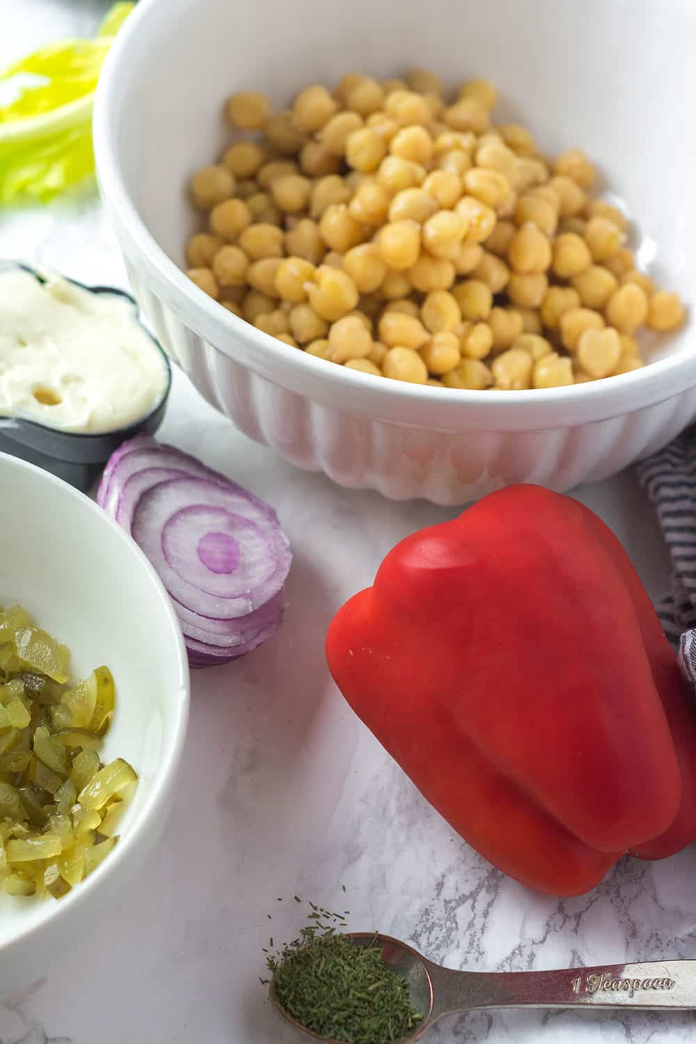 Easy Chickpea Salad Sandwich Ingredients