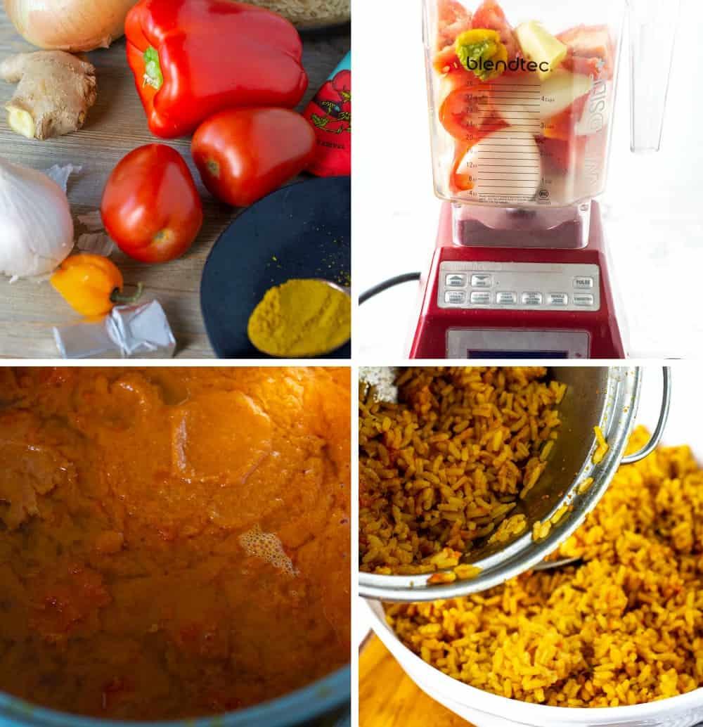 Jollof Rice Steps