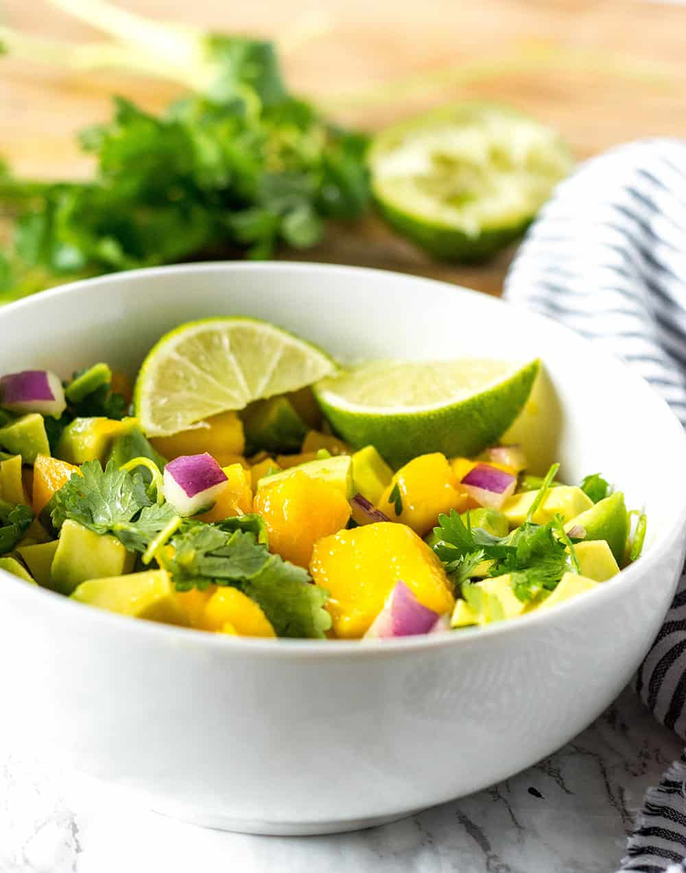 Mango Salsa With Avocado