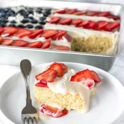 Vegan Gluten-Free Flag Cake