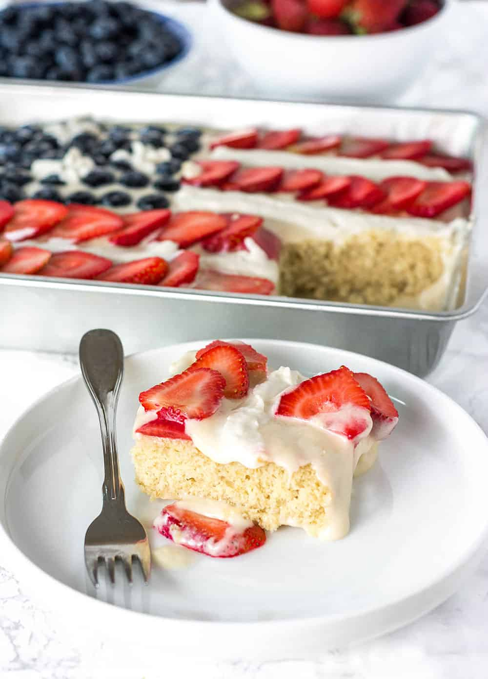 Vegan Gluten-Free Flag Cake