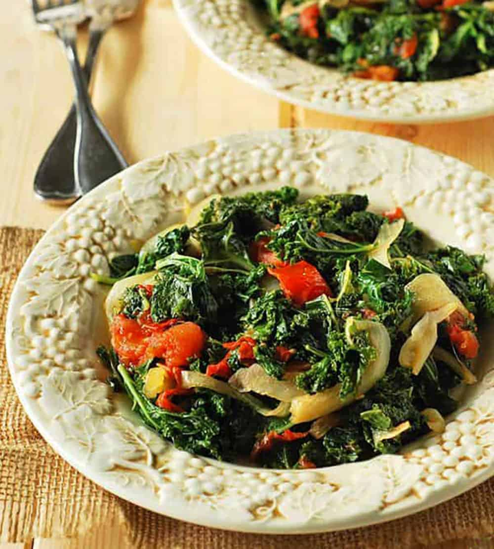 Best Braised Kale And Tomatoes