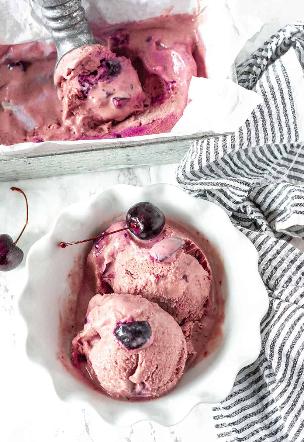 Cherry Coconut Ice Cream