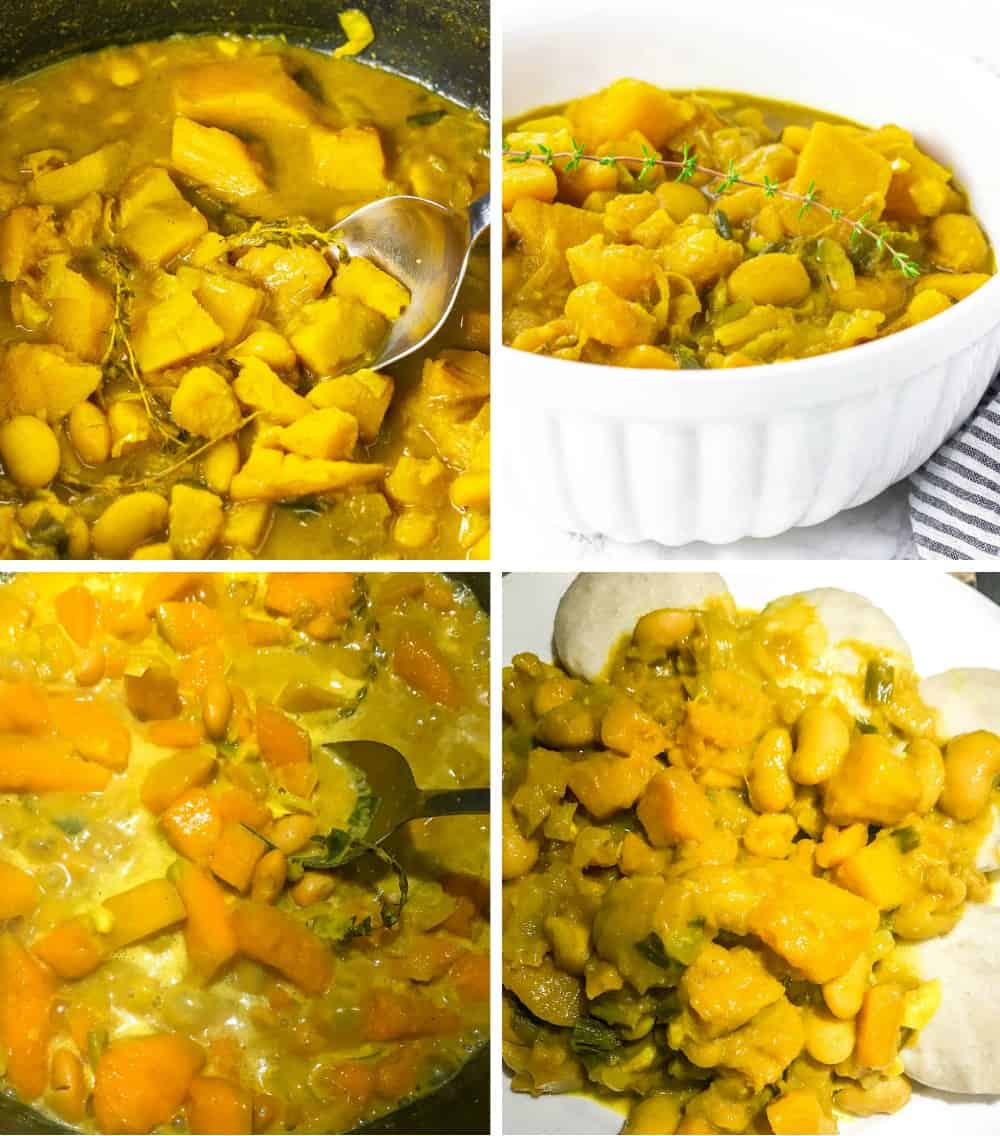 Curry Pumpkin With Butter Beans Steps
