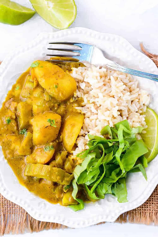 Easy Bitter Melon Potato Curry