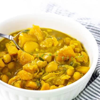 Jamaican Pumpkin Curry With Butter Beans