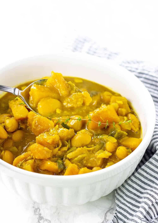 jamaican pumpkin curry with butter beans healthier steps