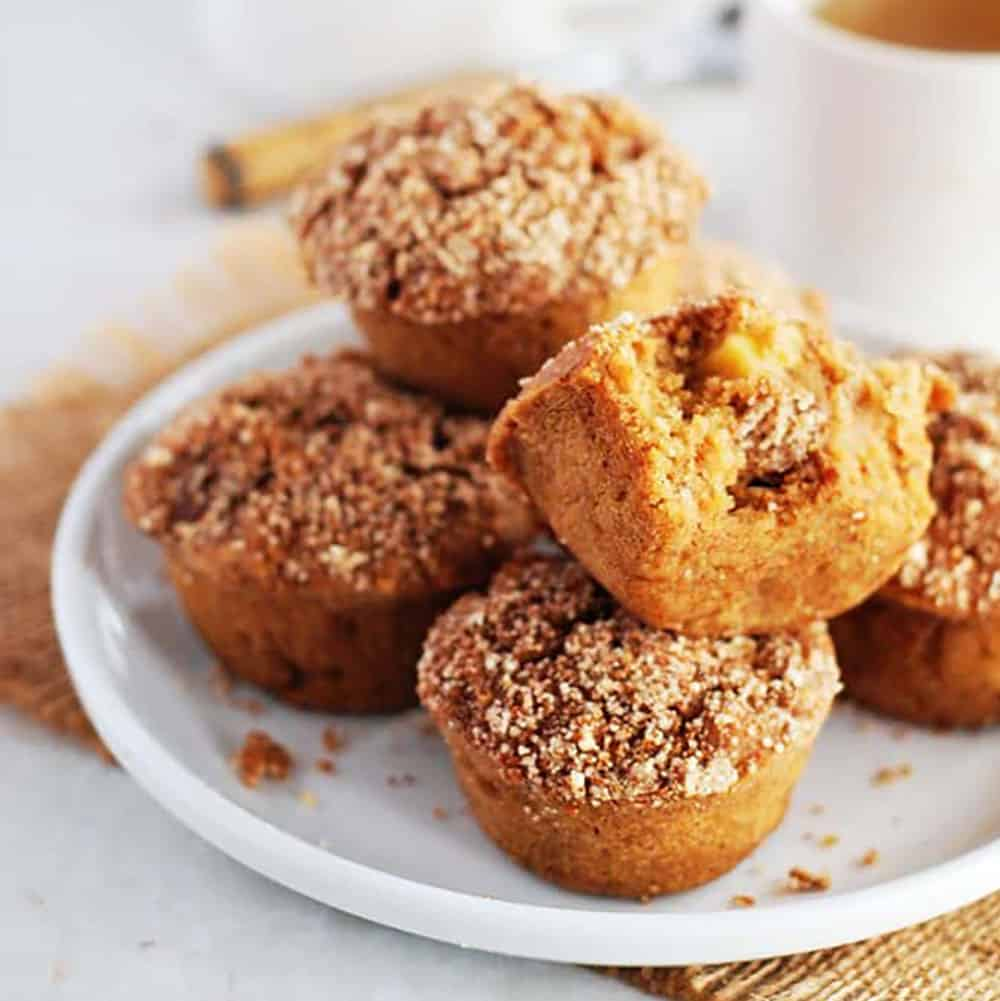 Healthy Apple Muffins With Oatmeal
