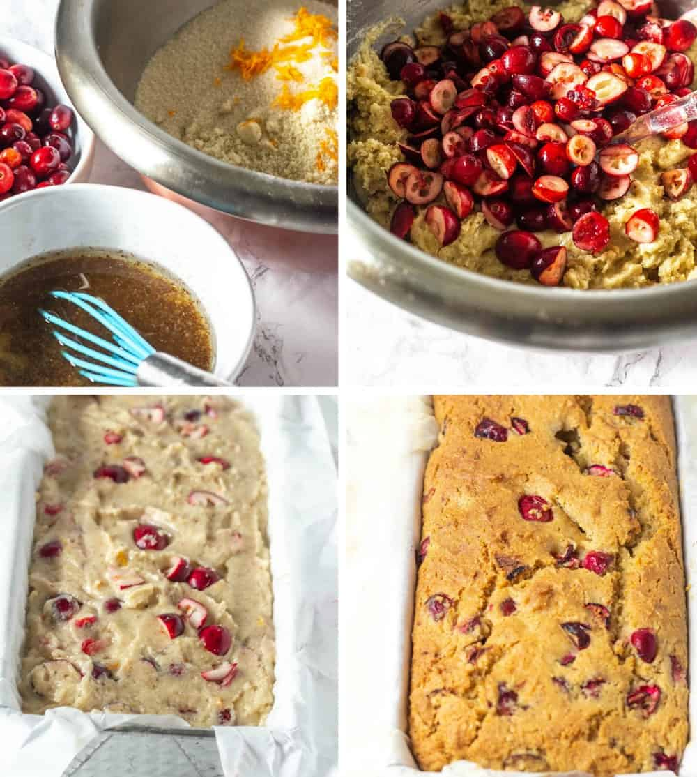Easy Vegan Cranberry Orange Bread
