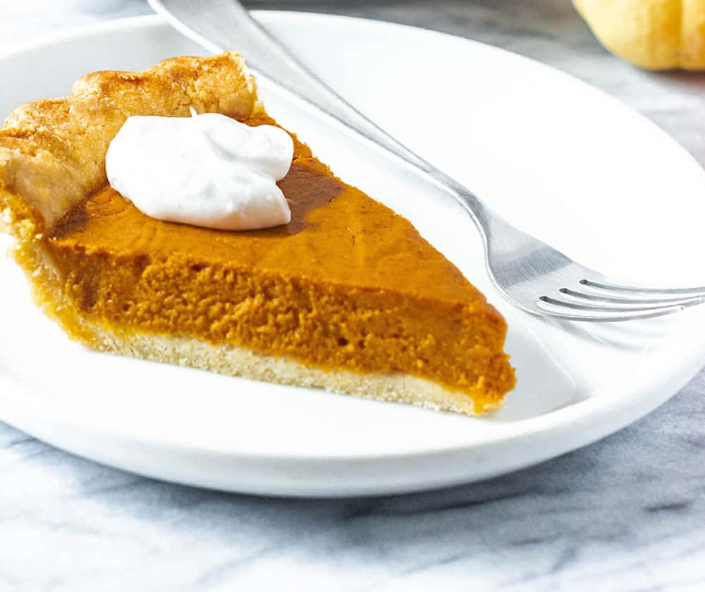 Vegan Gluten-Free Pumpkin Pie Slice