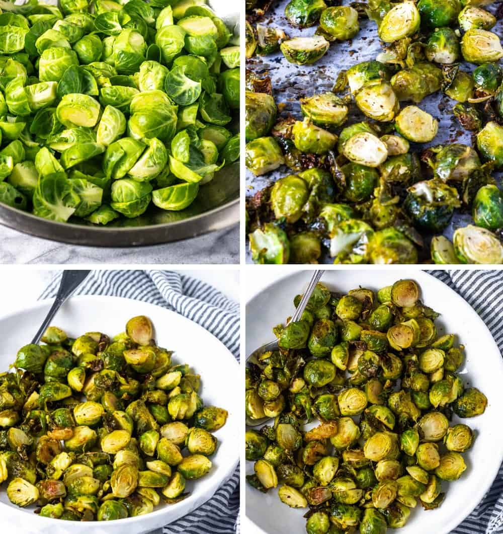Easy Roasted Brussels Sprouts Steps