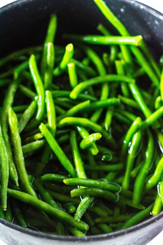 Vegan Green Bean Casserole Green Beans Cooking In Pot